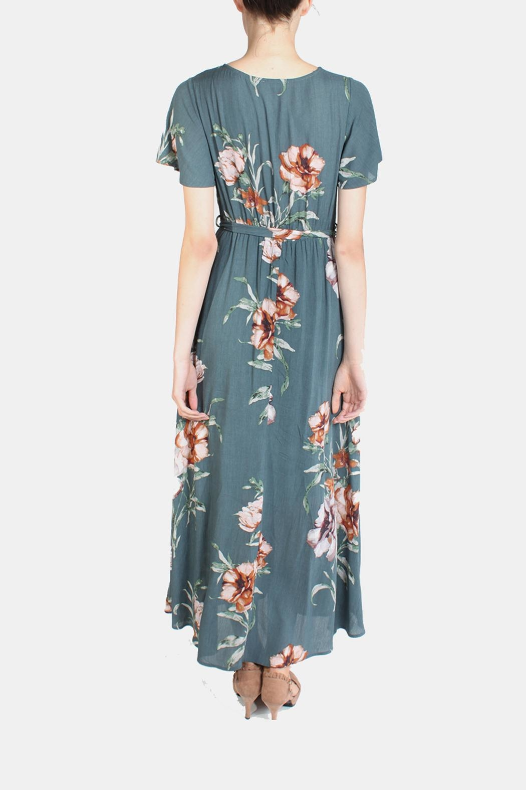 Illa Illa Sunrise Floral Wrap Dress - Side Cropped Image