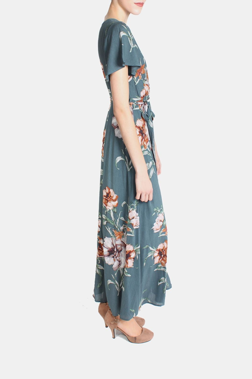 Illa Illa Sunrise Floral Wrap Dress - Front Full Image