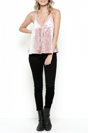 Illa Illa Velvet Lace Top - Front cropped