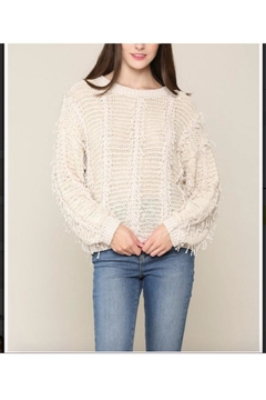 Illa Illa Vertical Fringe Sweater - Alternate List Image