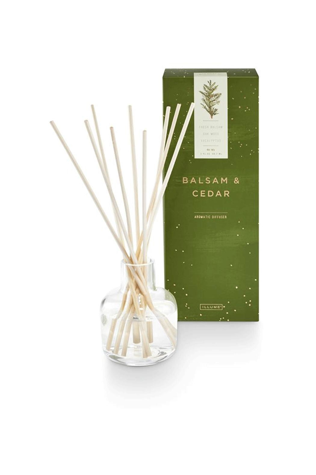 Illume  Balsam Cedar Diffuser - Front Cropped Image