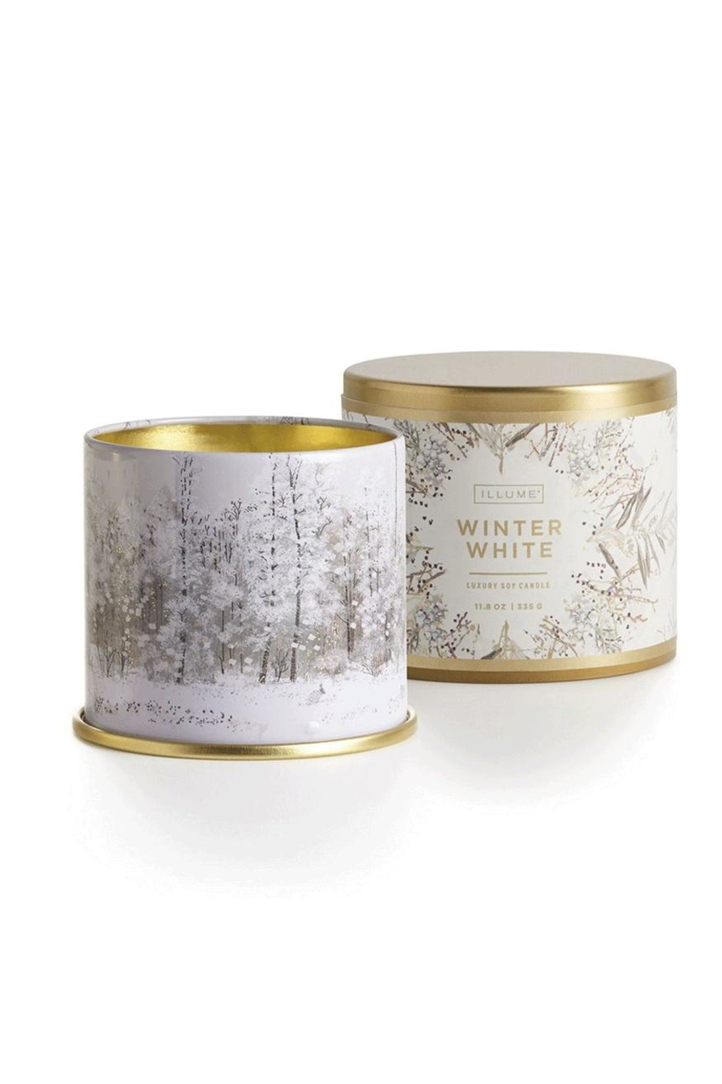 Illume  Winter-White Tin Candle - Front Cropped Image