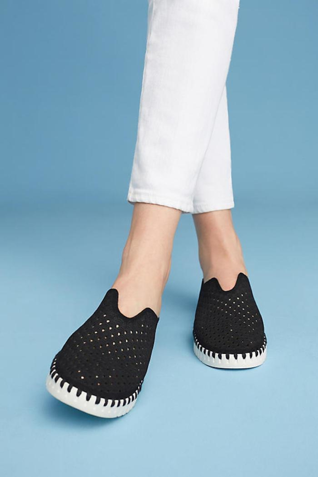 Ilse Jacobsen Tulip Perforated Sneaker - Side Cropped Image