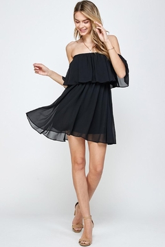 Shoptiques Product: Black Frills Dress