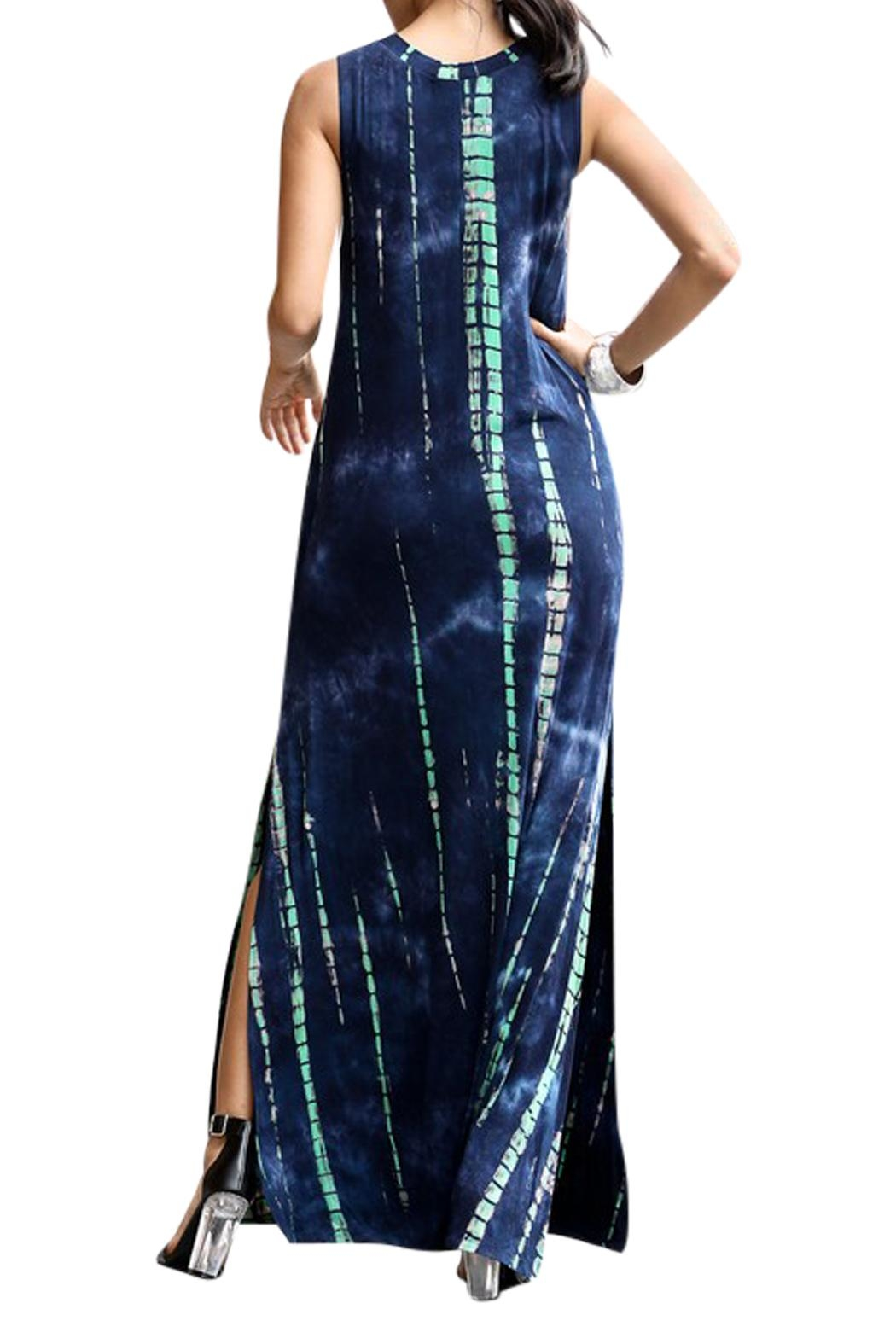 Imagine That Blue Lagoon Maxi Dress - Back Cropped Image