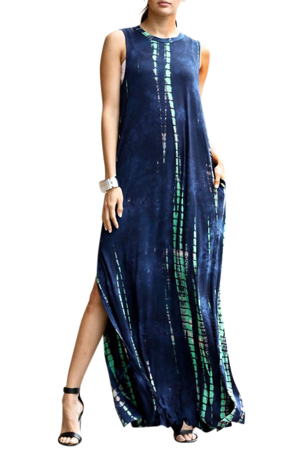 Imagine That Blue Lagoon Maxi Dress - Front Full Image