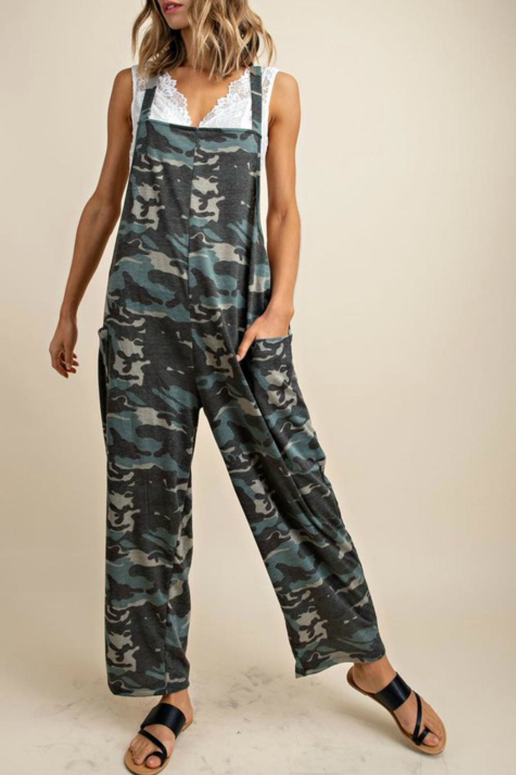 Imagine That Cool Camo Jumpsuit - Front Cropped Image