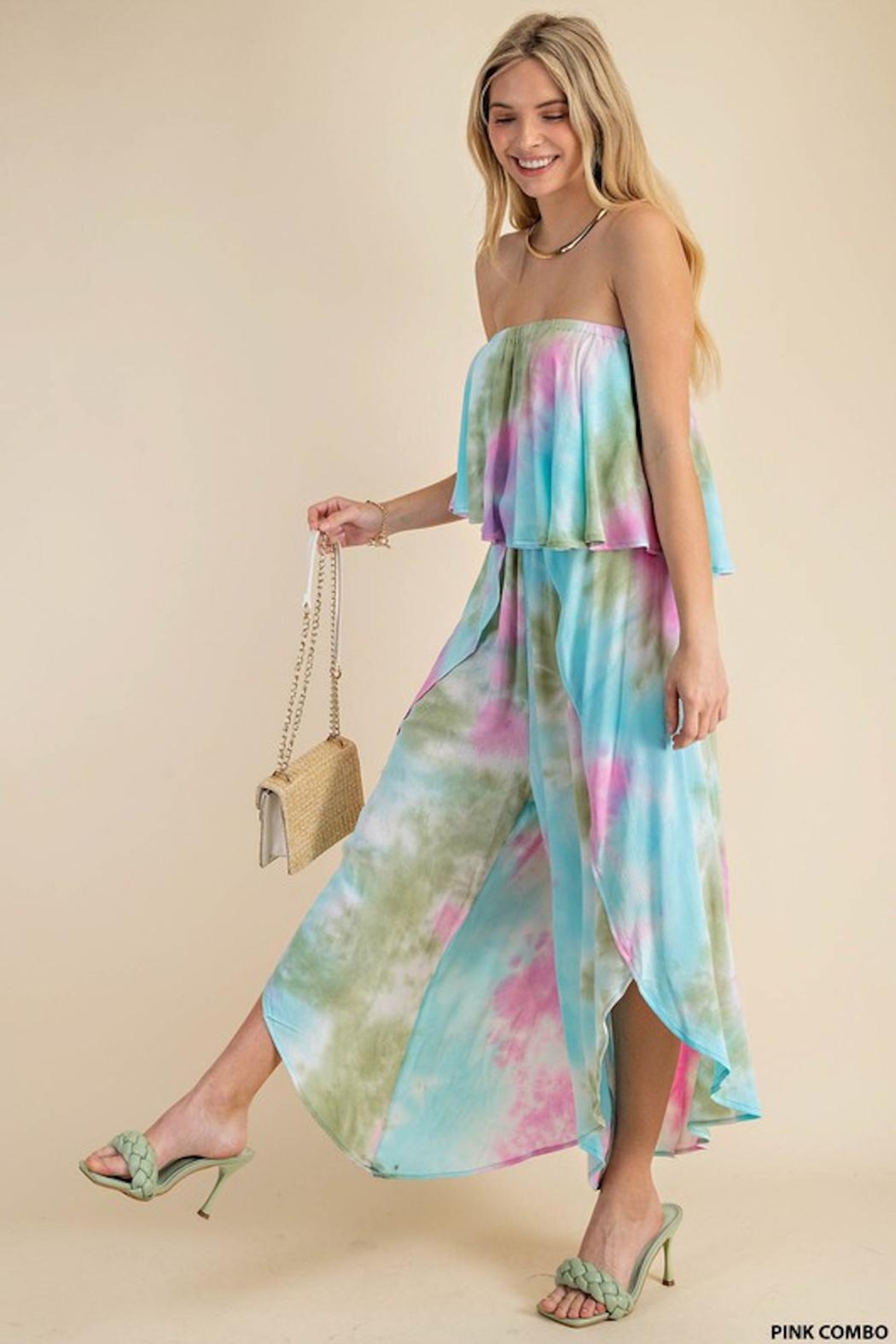 Imagine That Cotton Candy Jumpsuit - Front Full Image