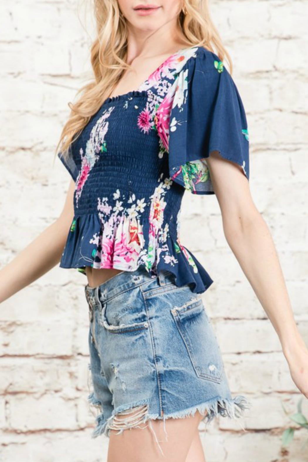Imagine That Floral Print Top - Side Cropped Image