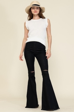 Shoptiques Product: Kiss Bell Bottom Jeans