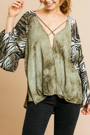 Imagine That Olive Branch Top - Product Mini Image