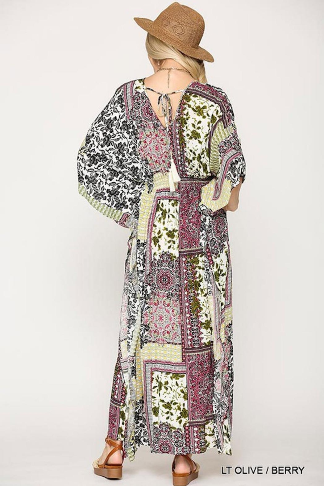 Imagine That Patchwork Maxi Dress - Front Full Image