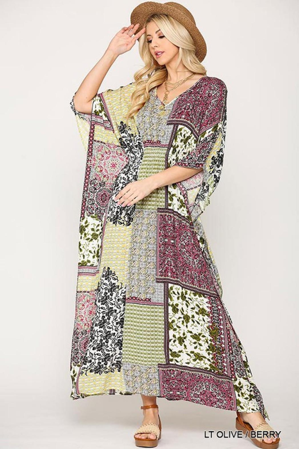 Imagine That Patchwork Maxi Dress - Back Cropped Image