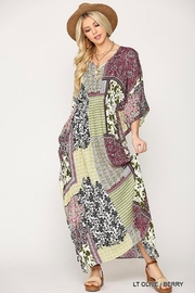 Imagine That Patchwork Maxi Dress - Front cropped