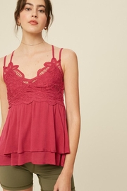 Imagine That Pink Lace Top - Product Mini Image