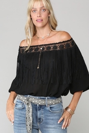 Imagine That Stevie Nicks Black Fringe Top - Product Mini Image