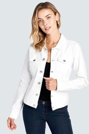 Imagine That White Denim Jacket - Product Mini Image