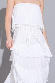 Imagine That White Ruffle Dress - Back cropped
