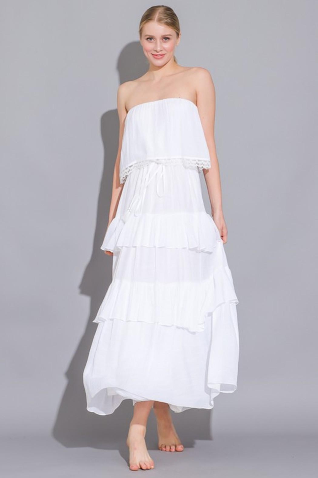 Imagine That White Ruffle Dress - Main Image