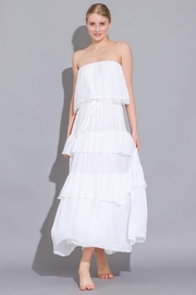 Imagine That White Ruffle Dress - Front cropped