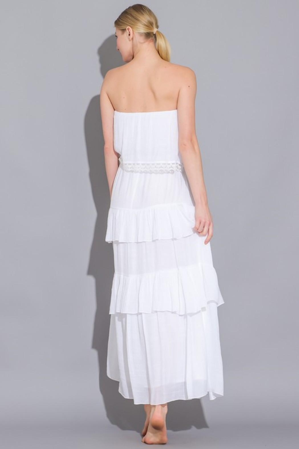 Imagine That White Ruffle Dress - Front Full Image