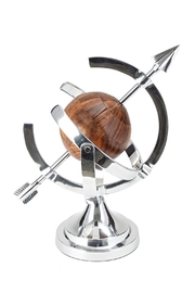 IMAX Worldwide Aluminum And Wood Armillary - Product Mini Image