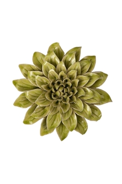 Shoptiques Product: Green Ceramic Flower