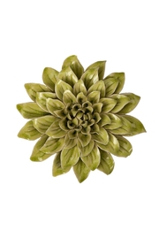 IMAX Worldwide Green Ceramic Flower - Product Mini Image