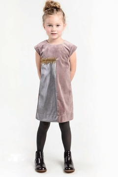 Imoga Gray Mauve Velvet Dress - Alternate List Image
