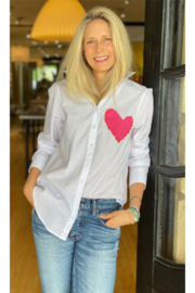 Kerri Rosenthal Imperfect Heart Pocket Button Up - Product Mini Image