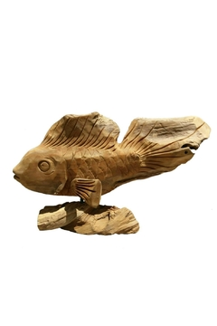 Imported Large Carved Fish - Alternate List Image