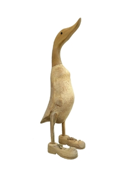 Imported Teak Duck Figure - Alternate List Image