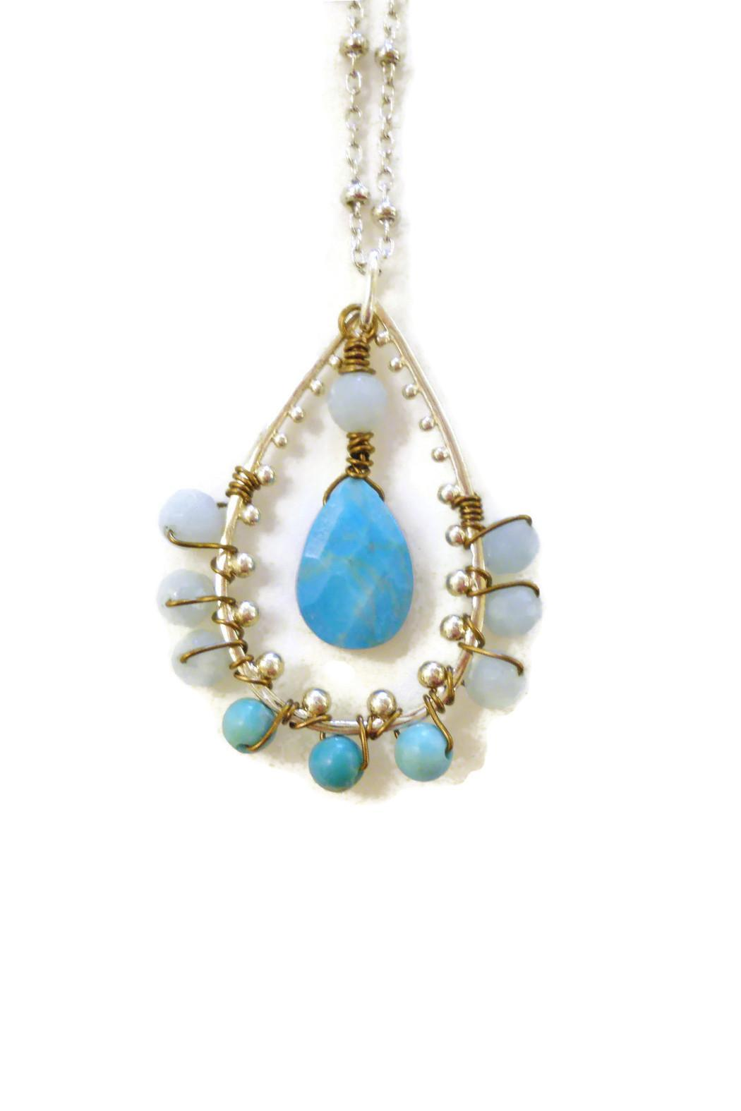 Impulse Jewelry Sterling Turquoise Pendant - Front Full Image