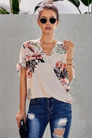 Shewin In Bloom Floral Surplice Top - Product Mini Image