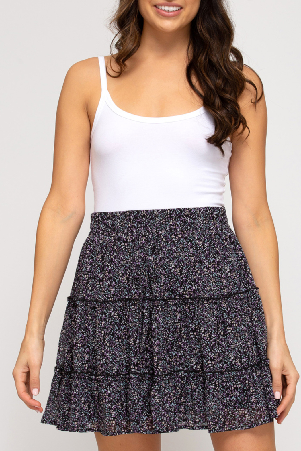 She & Sky  In Bloom Tiered Skirt - Main Image