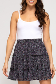 She & Sky  In Bloom Tiered Skirt - Front cropped
