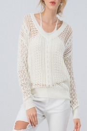 Trend:notes In Deep Fishnet Sweater - Product Mini Image