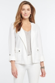 Nic + Zoe In Flight Jacket, Paper White - Front cropped