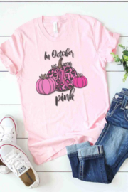kissed Apparel In October We Wear Pink Graphic Tee - Product Mini Image