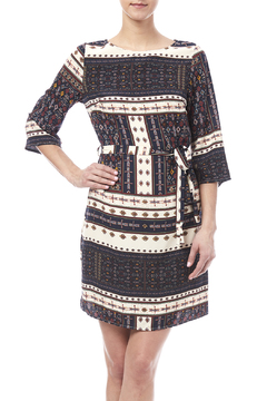Shoptiques Product: Belted Pattern Dress
