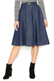 In Style Strong Denim Midi-Skirt - Front cropped