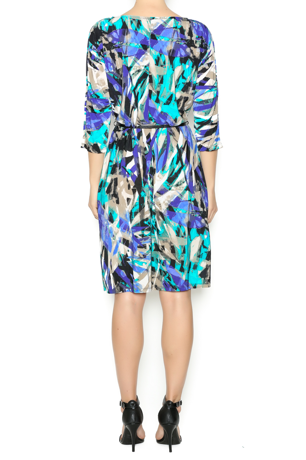 In The Loop Geometric Print Dress - Back Cropped Image
