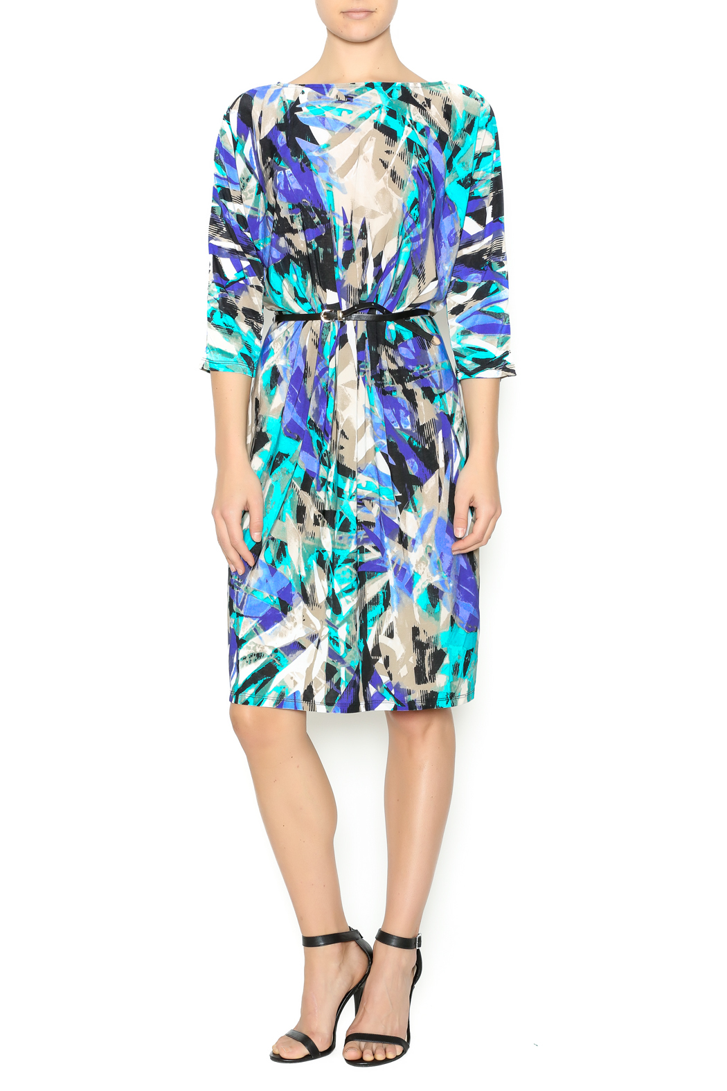 In The Loop Geometric Print Dress - Front Cropped Image