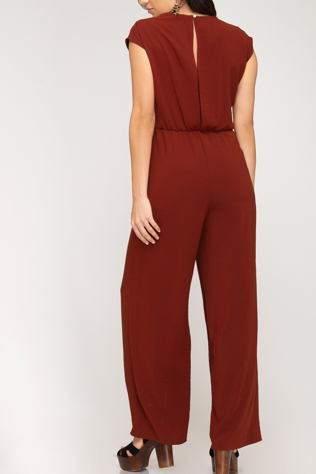 She + Sky In The Moment Jumpsuit - Front Full Image