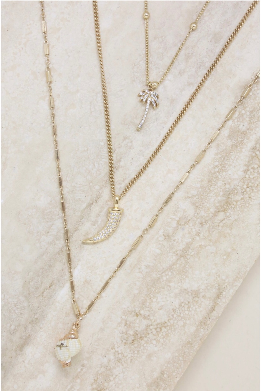 Ettika In The Tropics Necklace Set In Gold - Side Cropped Image