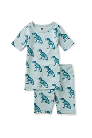 Tea Collection In Your Dreams Pajama Set - Patterned Dinosaur - Product Mini Image