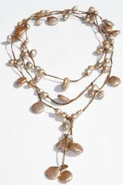 In2Design Leather Pearl Lariat - Product Mini Image