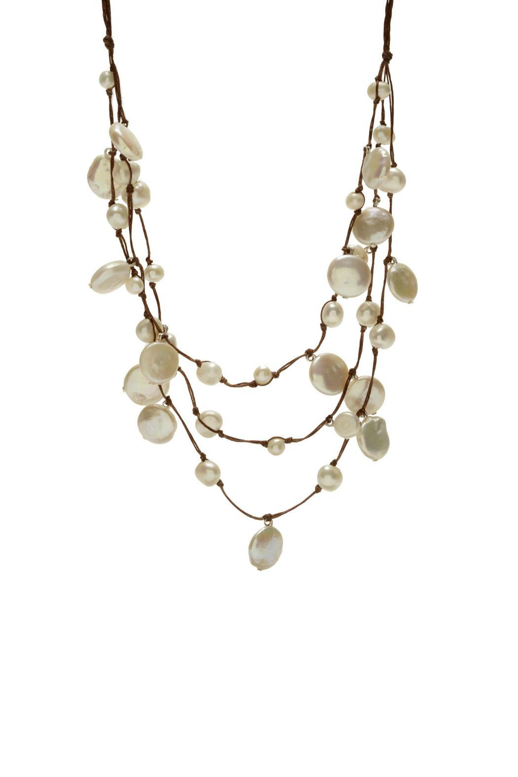 In2Design Linen Pearl Necklace from Dallas by Gemma Collection