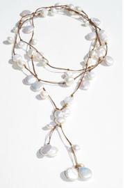In2Design Pearl Leather Lariat - Product Mini Image