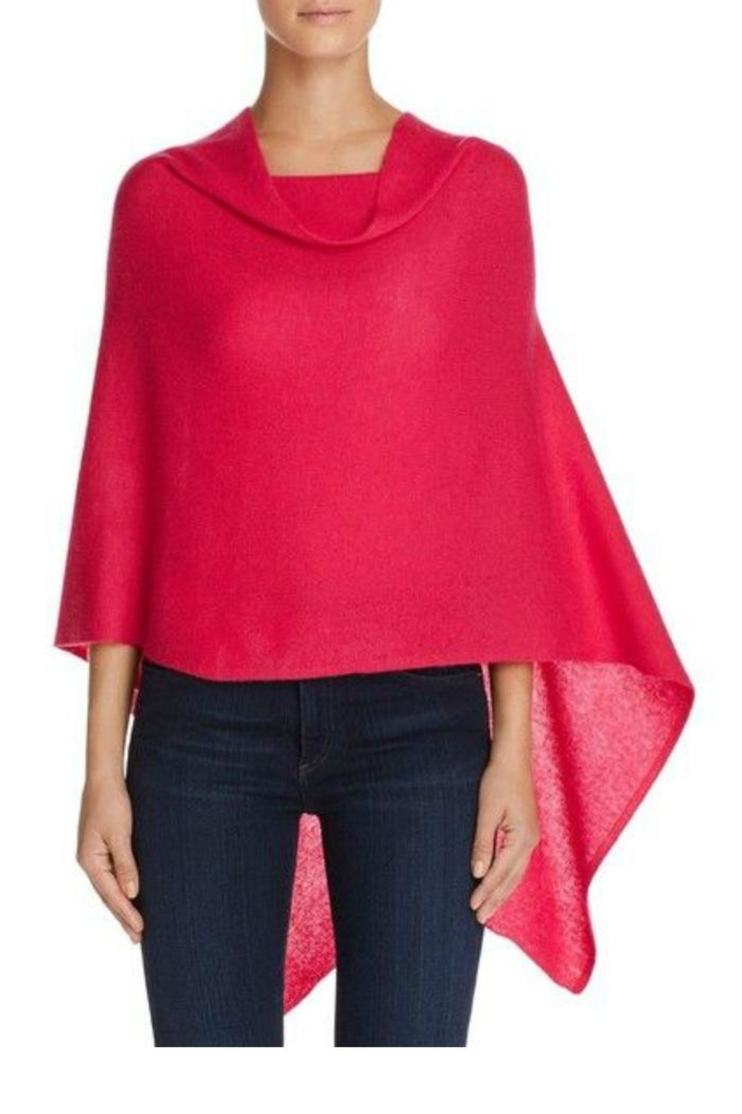 In Cashmere Cashmere Poncho - Front Cropped Image